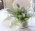 グリーンブッシュ A ローズマリー ユーカリ  造花 ナチュラル 可愛い 花 グリーン シルクフラワー アーティフィシャルフラワー