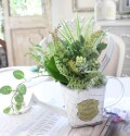 グリーンブッシュ B フィカス ファーン  造花 ナチュラル 可愛い 花 グリーン シルクフラワー アーティフィシャルフラワー イン