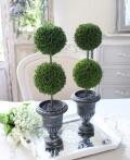 2段 トピアリー ツゲ 柘植 トピアリー 造花 ナチュラル 可愛い 花 グリーン シルクフラワー アーティフィシャルフラワー インテ