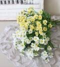 ミニデージー (ホワイト・イエロー) 小花  造花 シルクフラワー アーティフィシャルフラワー インテリアフラワー ブーケ 花束 お