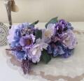 アネモネブーケ パープル 紫 造花 シルクフラワー アーティフィシャルフラワー インテリアフラワー ブーケ 花束 おしゃれ 可愛い