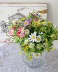 デージーミックス 2本セット 小花 デージー バンドル ピック ナチュラル 造花 シルクフラワー アーティフィシャルフラワー イン