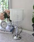 テーブルランプ オペラ シェード付き 卓上ランプ スタンドランプ LED対応 おしゃれ 可愛い アンティーク風 シャビーシック フレ