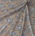 トワルドジュイ・田園(ベージュ) トワル・ド・ジュイ フランス製 輸入生地 カーテン生地 ファブリック カルトナージュ お茶箱