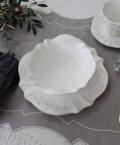 シャビーシックなフレンチ食器  【パリスシリーズ サラダボウル ボウル】 アンティーク風 陶器 アンティーク 食器 白い食器 お