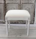 ヌードスツール (フレンチホワイト・ルイ16世フレーム) 椅子本体 イタリア製 DIY スツール ドレッサーチェアー シャビ