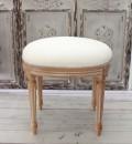 ヌードスツール (ホワイトデカぺ・オーバルフレーム) 椅子本体 イタリア製 DIY スツール ドレッサーチェアー シャビーシ