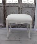 ヌードスツール (アンティークホワイト・猫足フレーム) 椅子本体 イタリア製 DIY スツール ドレッサーチェアー シャビー
