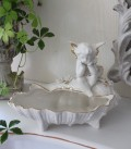 ★SALE・30★ 陶器製の天使のシェル小物入れ(1シェルタイプ) 天使 エンジェル シャビー 北欧 フレンチ クリスマス