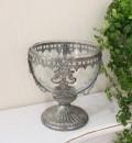 アイアン&ガラスのアンティークコンポート 花瓶 フレンチカントリー アンティーク 雑貨 輸入雑貨 antique shabby chic