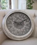 シャビーグレーのフレンチ掛け時計(ロンドンロゴ) アンティーク 雑貨 掛け時計 ウォールクロック アンティーク風 シャビーシ