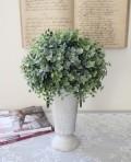 アンティーク 造花 グリーントピアリー ポット付き ツゲ 柘植 シルクフラワー アーティフィシャルフラワー アートフラワー グリ