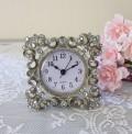 アンティーク メタルクロック 置時計(スクエア204)クオーツ時計 テーブルクロック 輸入雑貨 アンティーク調 アンティーク 雑