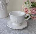 白い食器 カップ&ソーサー(リリーシリーズ)カップ&ソーサー C&S アンティーク 食器 アンティーク風 フレンチカントリー