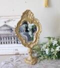 ロココ ゴールド卓上ミラー トール(77144)卓上 スタンドミラー 可愛い アンティーク風 アンティーク調 姫系 ロココ調 シャビー
