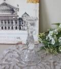 ガラス製 キャンドルスタンド (ショート85233CS) 燭台 キャンドルホルダー アンティーク風 アンティーク 雑貨 姫系 輸入雑貨