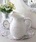 ピッチャー 陶器 ジャグ 85204FV ヨーロピアンコンポート 花瓶 ベース 洋風 輸入雑貨 シャビーシック ヨーロピアン雑貨 アンティ