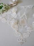 アンティーク風 レース テーブルセンター 12401TC ホワイト ドイリー テーブルランナー テーブルセンター 布製 刺繍 アンテ