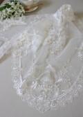 アンティーク風 レース テーブルセンター 12501TC ホワイト ドイリー テーブルランナー テーブルセンター 布製 刺繍 アンテ