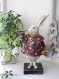アリスラビット 不思議の国のアリス ウサギ ラビット 置物 (フレンチカントリー シャビーシック ヨーロピアン雑貨 アンティーク