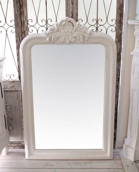アンティーク風・壁掛けミラー (ヴェニス 169)四角 長方形 壁掛けミラー  ホワイト シャビーシック  フレンチカントリー アン