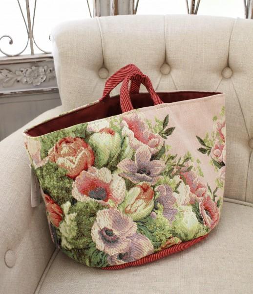フランス製のゴブラン織り ( バッグ型小物入れL)収納 小物入れ  シャビーシック アンティーク風 フレンチカントリー フランス