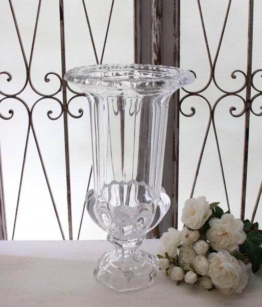 ガラスコンポート(トール) 花瓶 ヨーロピアン ガラス製 お洒落 アンティーク風 アンティーク 雑貨 姫系 輸入雑貨 シャビーシッ