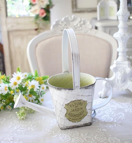 ジャルダンシリーズ スクエアジョーロS 292 ブリキ ジョウロ 花瓶 プランター 鉢カバー 小物入れ  可愛い アンティーク風 シャビ