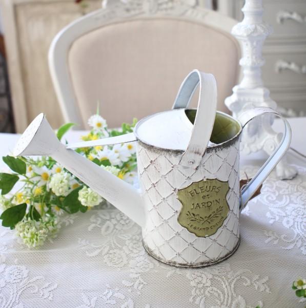 ジャルダンシリーズ ラウンドジョーロ 298 ブリキ ジョウロ 花瓶 プランター 鉢カバー 小物入れ  可愛い アンティーク風 シャビ
