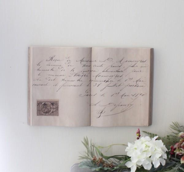 アンティーク 雑貨 ブック型壁掛け(Lレター067)額縁 可愛い アンティーク風 シャビーシック フレンチカントリー アンティーク