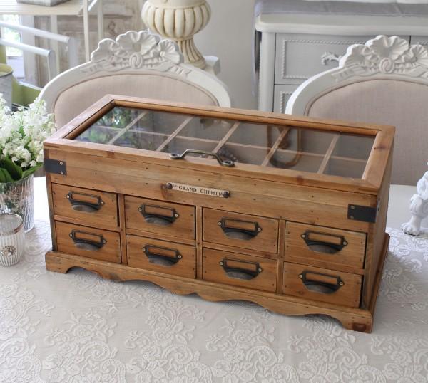 アンティークな木製コレクションケース コレクションボックス 手芸 リボン ボタン 小物入れ アクセサリーケース コレクションケ