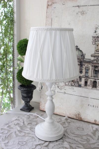 テーブルランプ プリマ シェード付き ホワイト 卓上ランプ スタンドランプ LED対応 おしゃれ 可愛い アンティーク風 シャビーシ