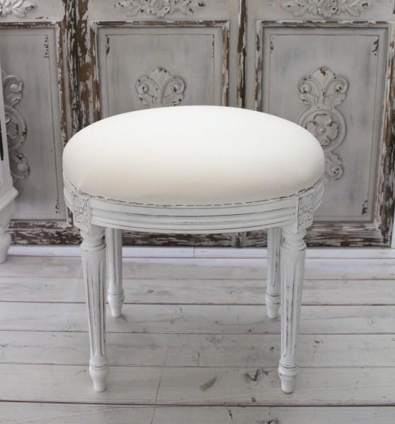 ヌードスツール (フレンチホワイト・オーバルフレーム) 椅子本体 イタリア製 DIY スツール ドレッサーチェアー シャビー