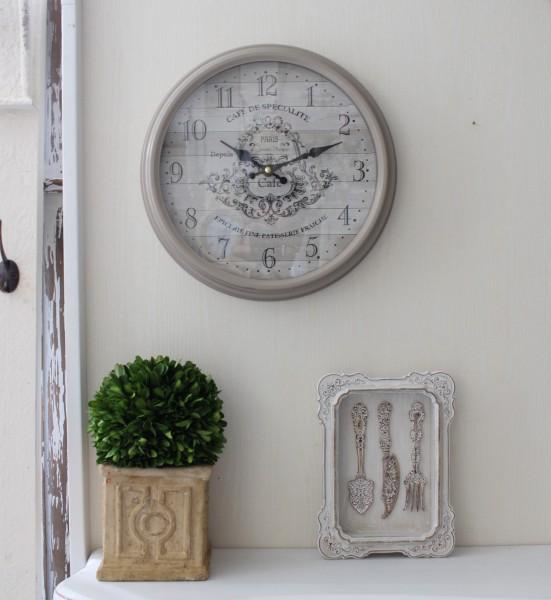 アンティーク風 掛け時計(PARIS cafe・022WC)アンティーク 雑貨 掛け時計 ウォールクロック アンティーク風 シャビーシック an