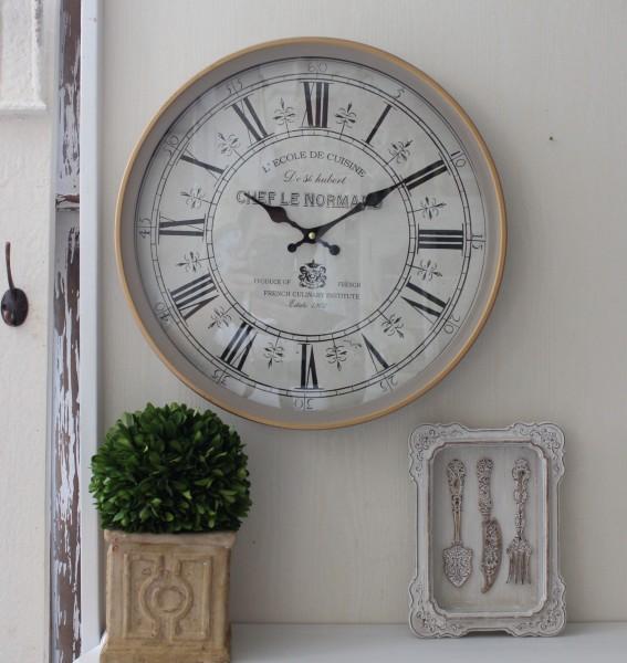 アンティーク風 掛け時計(FRENCH グレージュ・020WC)アンティーク 雑貨 掛け時計 ウォールクロック アンティーク風 シャビーシ