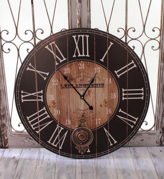 アンティーク風 掛け時計(ブラック振り子・024WC)アンティーク 雑貨 掛け時計 ウォールクロック アンティーク風 シャビーシッ