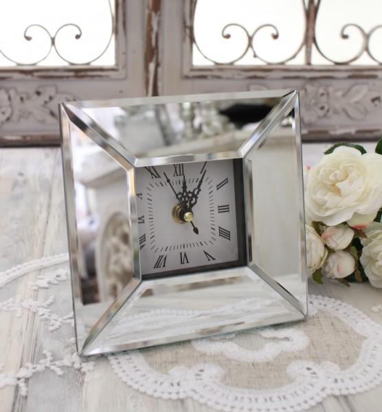 おしゃれなグラスクロック 置時計 クオーツ時計 テーブルクロック 輸入雑貨 アンティーク調 アンティーク 雑貨 antique お洒