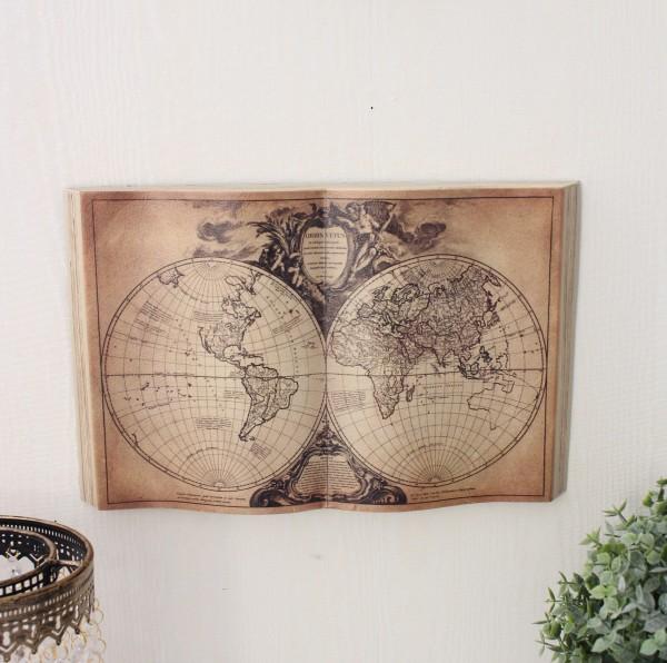 アンティーク 雑貨 ブック型壁掛け(S地図706)額縁 可愛い アンティーク風 シャビーシック フレンチカントリー アンティーク 雑