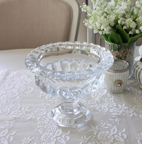 クリスタルベース Mサイズ 110FV ガラス製 ヨーロピアンコンポート 花瓶 ベース ヨーロピアン型 ガラス花器 洋風 輸入雑貨 シャ