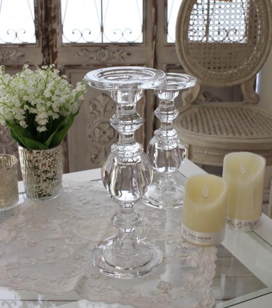 ガラス製のキャンドルスタンド(ボールタイプL) 燭台 キャンドルホルダー シャビーシック 姫系 アンティーク 雑貨 アンティ