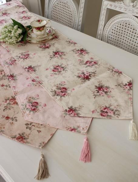エレガントローズ 撥水テーブルランナー センター 32×150 Mサイズ 薔薇  ジャガード レターパックOK