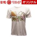 【巣鴨道楽】 すがも朝顔市紳士Tシャツ(白) 日本製