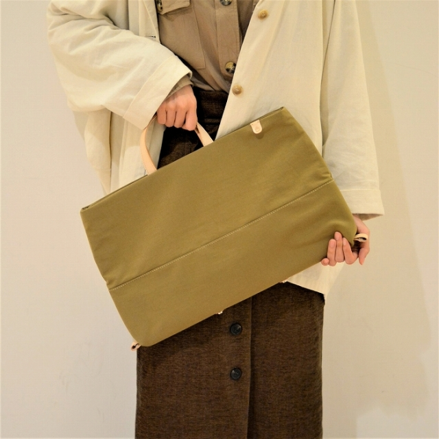 Atelier nuu オニベジ ナイロン 豊岡鞄 2way 手持ちトートバッグ