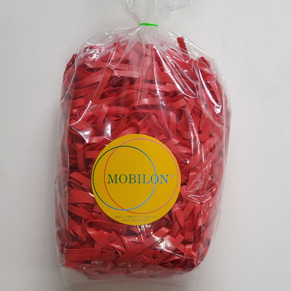 モビロンバンド 折径100mm 1kg(約2,000本) 赤 通常
