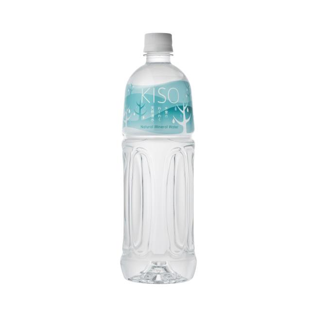 木曽の天然湧水 KISOペットボトル ウォーターツリーラベル 1L (12本セット)