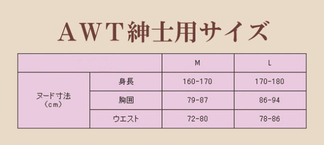 AHTの後継商品「AWT」超あったか肌着男性用長袖4