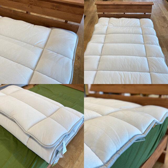 FITLABO厚手羊毛ベッドパッド06