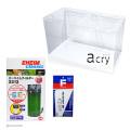【国産アクリル水槽セット】acry(アクリ) 60cmアクリル水槽 エーハイム外部式フィルタークラシック2213 コケ取りスクレーパー付き