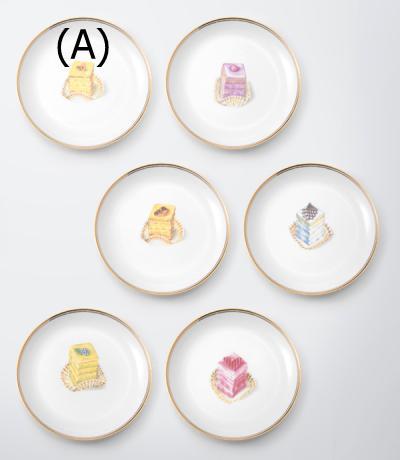 70%OFFプチフール ケーキ皿 (5枚セット)
