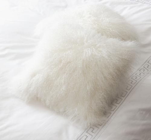 チベットラムファークッション ホワイト